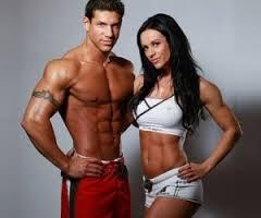 бодибилдинг, мужчина и женщина